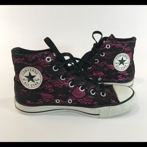 Converse hi top lace overlay